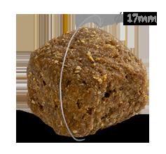 Grootte CaroCroc High Energy hondenbrok met diameter