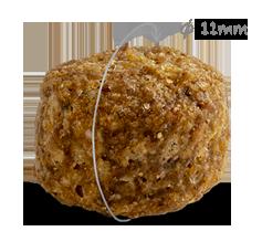 Grootte CaroCroc Small Breed hondenbrok met diameter